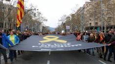 Manifestación de Omnium Cultural en Barcelona