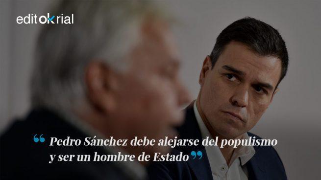 Sánchez tiene que ser Felipe y no el Pablo Iglesias malo