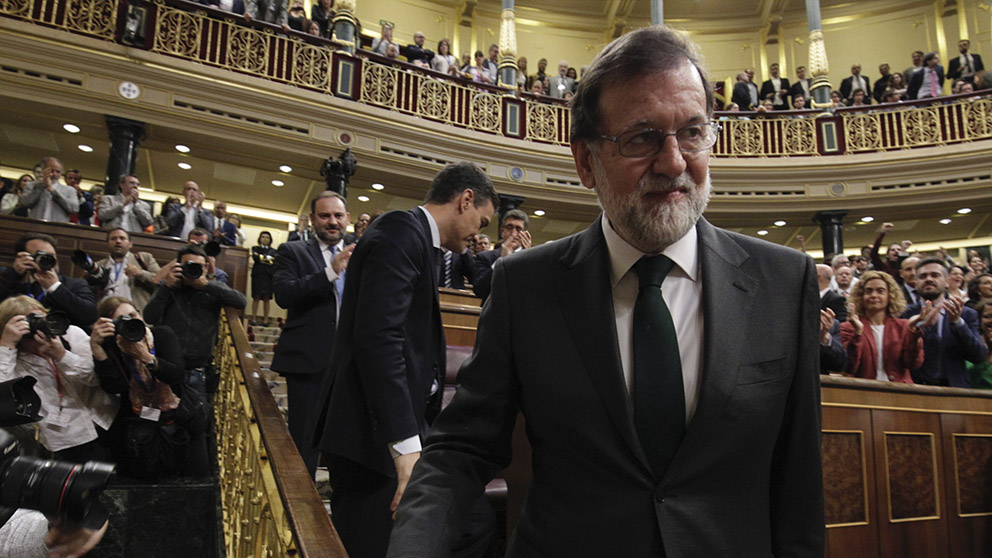 Mariano Rajoy tras la moción de censura. (Foto: Francisco Toledo).