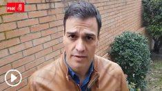 El secretario general, Pedro Sánchez, criticando a Podemos y los independentistas en un vídeo publicado en marzo