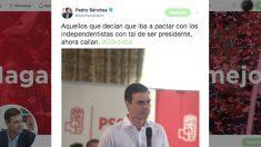 El tuit que escribió Pedro Sánchez el 15 de abril de 2016