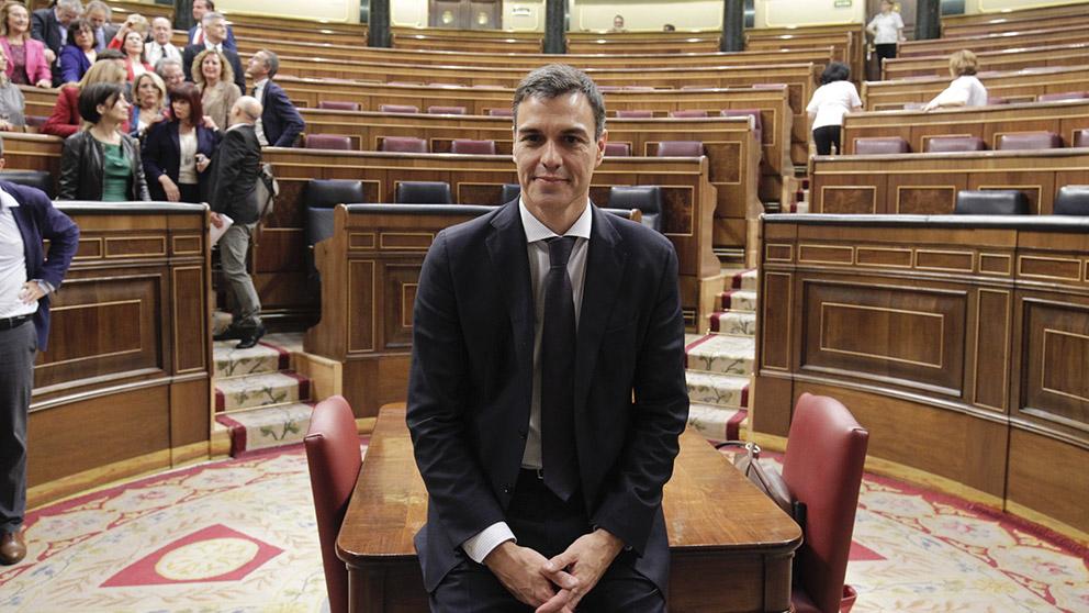 Pedro Sánchez se convierte en Presidente tras la moción de censura a Rajoy. (Foto: Francisco Toledo)