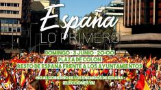 VOX convoca concentraciones en toda España el domingo