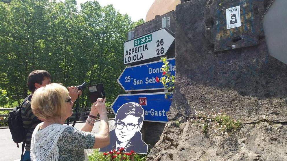 Homenaje en Tolosa a el etarra Txabi Etxebarrieta. Foto: Twitter