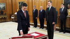 Pedro Sánchez toma posesión como presidente del Gobierno. (Foto: EFE)