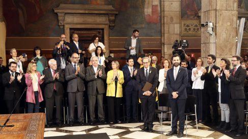 Acto de toma de posesión de los consellers de Quim Torra. (Foto: EFE)