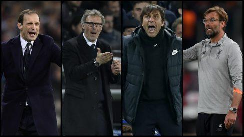 Allegri, Blanc, Conte y Klopp, candidato al banquillo del Real Madrid.