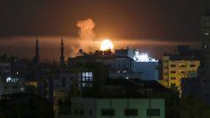 Explosiones en Gaza por bombardeos israelíes. (AFP)