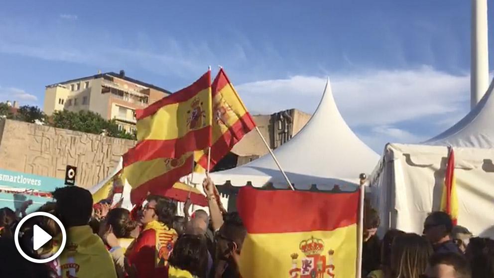Miles toman la plaza de Colón de Madrid exigiendo «¡elecciones!».