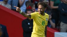 Neymar celebra su gol frente a Croacia. (AFP)