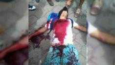 Un manifestante asesinado por la policía del régimen dictatorial de Daniel Ortega en Masaya (Nicaragua).