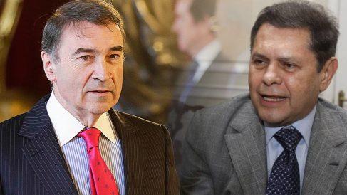 El director de El Español, Pedro J. Ramírez, y el empresario colombiano Carlos Mattos.