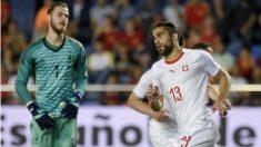 Un error claro de De Gea privó a España de la victoria ante Suiza. (Getty)