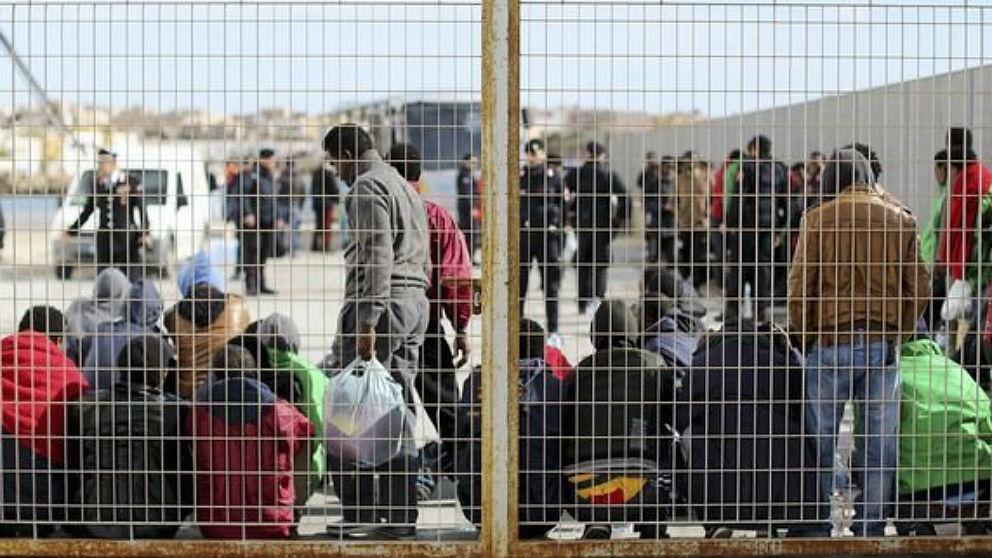 Algunos de los migrantes rescatados en Túnez.