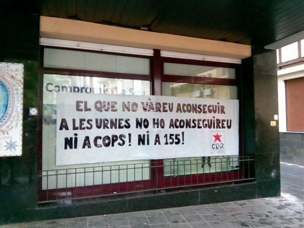 Una mossa de Lérida denunciada por participar en un escrache al PSC
