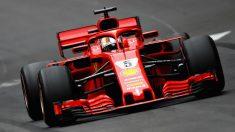 El Ferrari SF71H de Vettel y Raikkonen podría estar utilizando un sistema DRS cuya abertura sería mayor de la permitida. (Getty)