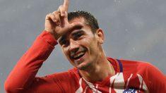 Griezmann celebra un gol con el Atlético de Madrid. (AFP)