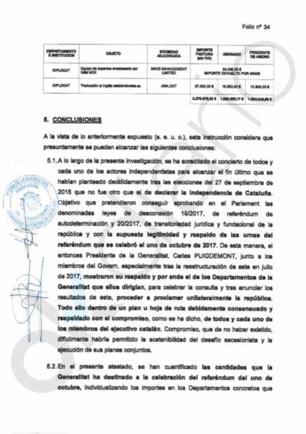 La Guardia Civil certifica en plena salida de Montoro que la Generalitat malversó otros 3,2 millones el 1-O
