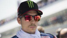 Maverick Viñales no acaba de encontrarse cómodo con la Yamaha M1 de este año, a pesar de ocupar el tercer puesto en la general de pilotos. (Getty)