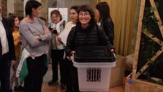 Urna del referéndum ilegal del 1 de octubre
