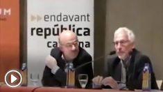 El ex senador de ERC, Santiago Vidal, explicó su reunión con Pedro Sánchez en una conferencia en Granollers (Barcelona)