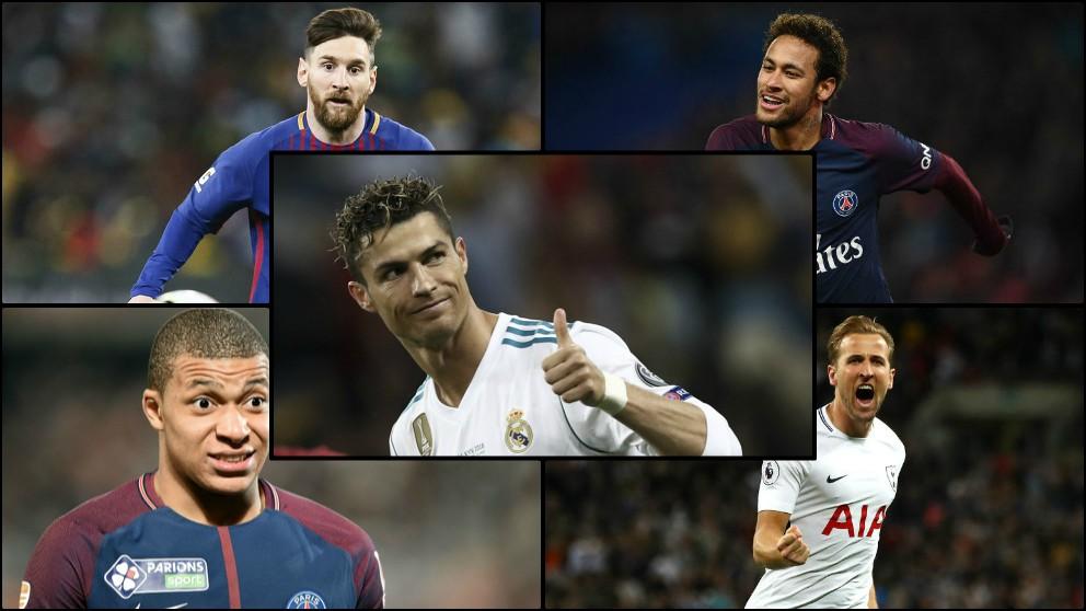 Cristiano Ronaldo aparece en el puesto 24 de un ranking liderado por Harry Kane.