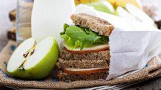 Receta de Sándwich de manzana y queso fácil de preparar