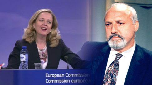 La nueva ministra de Economía, Nadia Calviño y su padre, el ex director general de RTVE con el PSOE José María Calviño