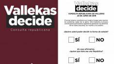 Consulta republicana en Vallecas.