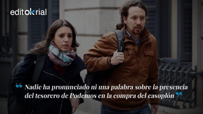 La omertá en Podemos huele a Bárcenas encerrado