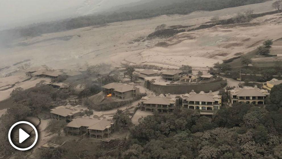Una de las zonas arrasadas tras la erupción del Volcán de Fuego en Guatemala.