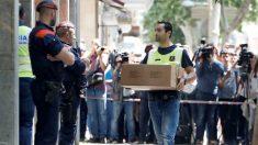 Registros en el bloque donde presuntamente fue asesinada Laia (EFE).