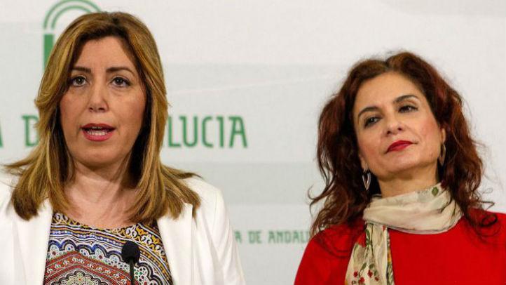 La ministra de Hacienda, María Jesús Montero y Susana Díaz