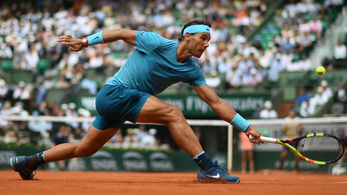Rafa Nadal, durante el partido de octavos de final de Roland Garros, ante Maximilian Marterer (AFP).