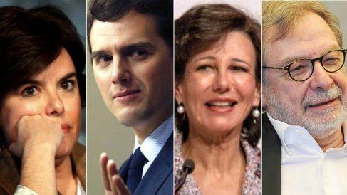 Sáenz de Santamaria, Rivera, Botín y Cebrián, invitados españoles al Club Bilderberg 2018.
