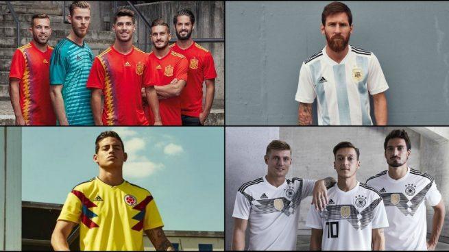 Así son las camisetas que las selecciones lucirán en el Mundial 2018 cec1b85c837ba