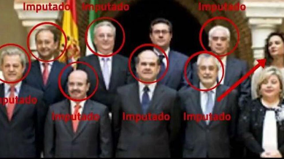 El gobierno de la Junta de Andalucía con la actual ministra de Hacienda y  siete imputados en el caso ERE