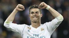Cristiano Ronaldo celebra un gol con el Real Madrid. (AFP)