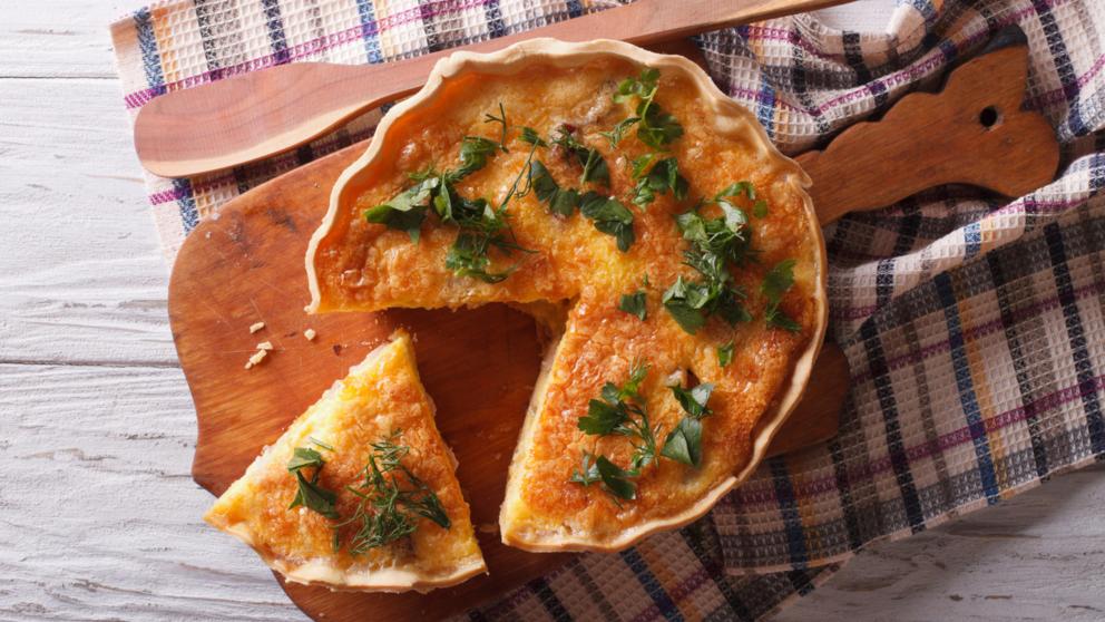 Receta de flan salado de jamón y bechamel fácil de preparar