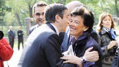 Isabel Celaá y Patxi López. (Foto: AFP)