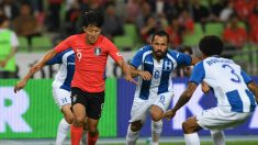 Lee Seung-woo durante un partido con Corea del Sur. (AFP)