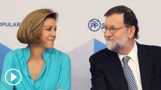 María Dolores de Cospedal y Mariano Rajoy. (Foto: EFE)