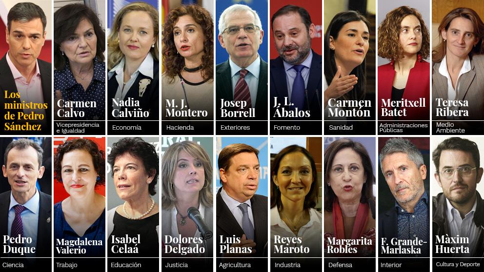 Lista completa de ministros del gobierno de pedro s nchez for Gobierno de espana ministerio del interior