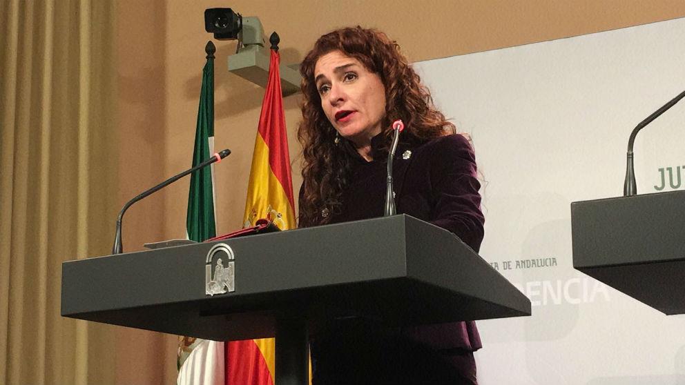 María Jesús Montero, em su etapa en la Junta de Andalucía. / @AndaluciaJunta