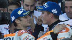 Dani Pedrosa y Marc Márquez han formado una de las parejas más exitosas de la historia del motociclismo, que ahora se rompe para que llegue una que se prevé todavía mejor con el de Cervera y Lorenzo. (Getty)