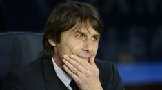 Conte, durante un encuentro. (AFP)