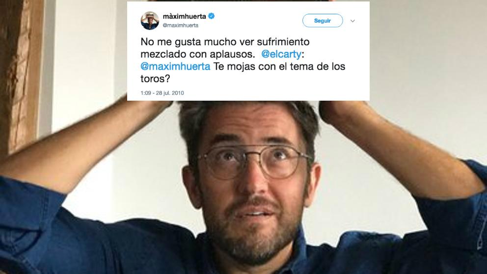 Maxim Huerta, el nuevo ministro de Cultura de Pedro Sánchez, se ha declarado abiertamente antitaurino en el pasado.