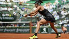 Garbiñe Muguruza durante las semifinales de Roland Garros ante Halep. (AFP)
