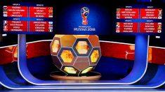 Calendario Mundial 2018: Fase de grupos.