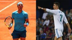 Rafael Nadal y Cristiano Ronaldo. (Getty)